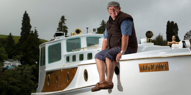 Dennis Walsh is looking forward to sailing his newly restored boat Manowai. Photo / Ben Fraser