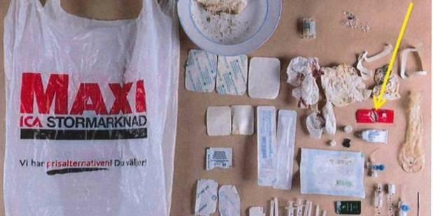 Police found a plastic full of drugs, syringes and condoms in the doctor's home. Photo / Supplied