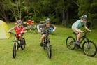 Hunua Ranges: Tent, bikes, bliss