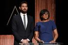 Academy President Cheryl Boone Isaacs and John Krasinski announce the Academy Awards nominations. Photo/AP