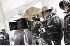 Quentin Tarantino on the set of The Hateful Eight Supplied 7 JAN 2016 NZH 14Jan16 -