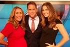 Pregnant TVNZ presenters show off their baby bumps alongside Greg Boyed on One News. Photo/Twitter