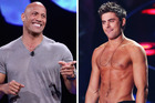 Actors Dwayne 'The Rock' Johnson and Zac Efron. Photo / Getty Images