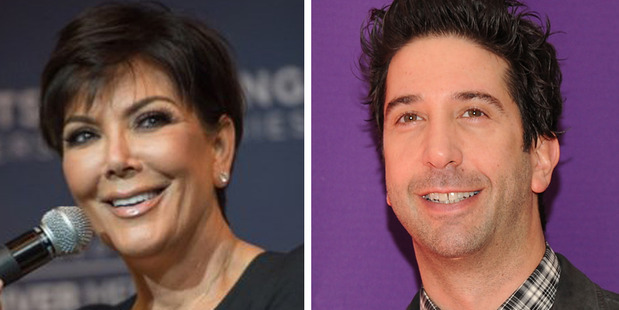 TV personality Kris Jenner and actor David Schwimmer. Photo / AFP, AP