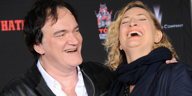 Quentin Tarantino with Kiwi stuntwoman-turned-actress Zoe Bell. Photo / Getty Images