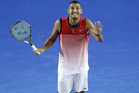 Australian Nick Kyrgios is trying to avoid a four-week suspension that threatens to undermine his grand slam season. Photo/Getty