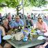 L-R: Bill Fleury, Dawn Fleury, Wanganui; Tony Morris, Anna Ward, Allie Morris, Paul Ward, with Grace, all from Havelock North. Photograph: Duncan Brown