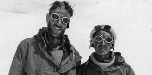 Edmund Hillary (left) and Sherpa Tensing Norgay after their ascent of Mount Everest.