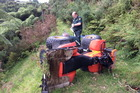 A man has been airlifted to Tauranga hospital after rolling a quad bike on a farm south of Te Puke. Photo/supplied