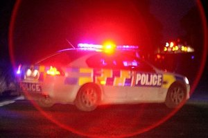The man was pursued for about 15 minutes along Cove Rd at speeds of about 50km/h before road spikes brought the chase to an end.