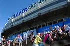Tennis fans arrive at Rod Laver Arena during day one of the 2016 Australian Open. Photo / Getty Images.