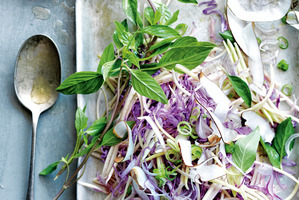 Recipe: Red cabbage, mango and coconut slaw