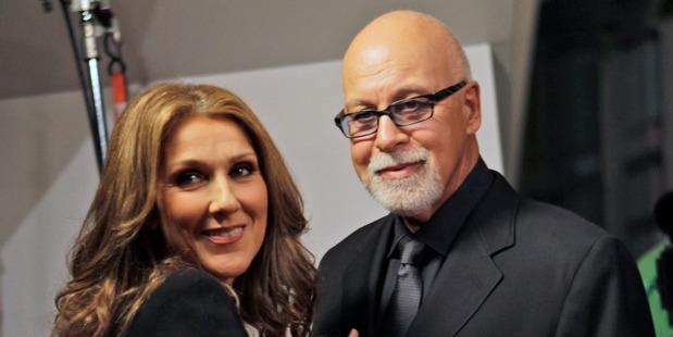 Celine Dion with her husband Rene Angelil, 2010. Photo / AP