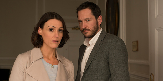 Gemma and Simon Foster (Suranne Jones and Bertie Carvel) are an idyllic couple in an idyllic village - until Gemma discovers clues that suggest infidelity. Photo / Supplied