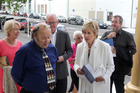 Dame Kiri Te Kanawa arrives at the Royal Wanganui Opera House.