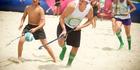 Plenty of hockey action on the beach