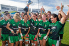 Manawatu took out the womans title at the Bayleys National Sevens. Photo/Ben Fraser