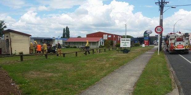 Fire crews were called to the Rotorua Ngongotaha Rail Park this afternoon.