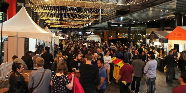 Food Festival in Federal Street, Auckland. Events, restaurants and a booming economy are behind an expected 30 percent jump in Sky City half year profits.