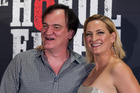 Quentin Tarantino and Zoe Bell arrive on the red carpet of the NZ premiere of The Hateful Eight. Photo / Jason Oxenham