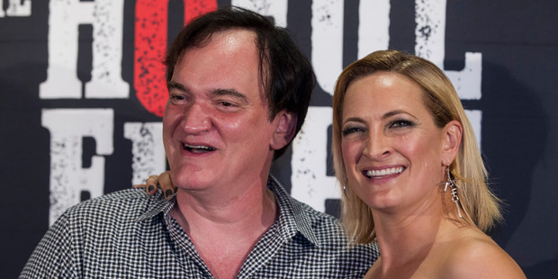 Loading Quentin Tarantino and Zoe Bell arrive on the red carpet of the NZ premiere of The Hateful Eight. Photo / Jason Oxenham