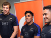 All blacks' Brodie Reatallick, Malakai Fekitoa and Codie Taylor at the launch of the Gatorade sports lab at AUT Millennium gym. Photo / Nick Reed