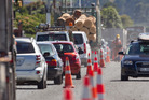 Road works caused traffic delays on Te Ngae Rd yesterday.  Photo/Ben Fraser