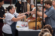People enjoy the food and entertainment at the Federal Street Festival. Photo / Steven McNicholl