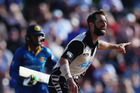 Grant Elliott of the Black Caps appeals for a run out during the Twenty20 match between New Zealand and Sri Lanka at Bay Oval. Photo / Getty Images