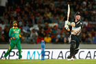 Colin Munro bats during the first T20 match between New Zealand and Pakistan at Eden Park. Photo / Getty Images