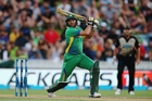 Shahid Afridi during the International Twenty20 match between New Zealand and Pakistan at Seddon Park. Photo / Getty Images