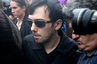 Martin Shkreli leaves the courthouse after his arraignment in December. Photo / AP