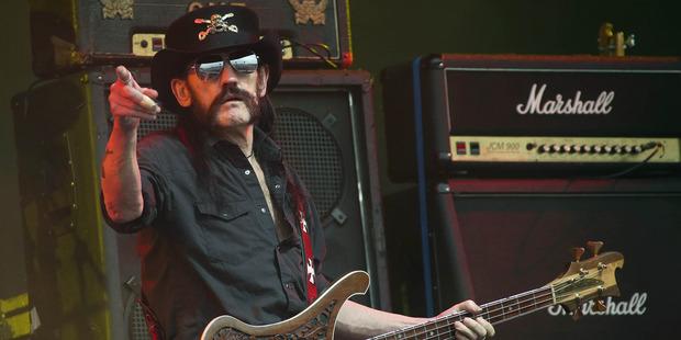 Lemmy Kilmister died last month aged 70. Photo / AP