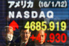 The Nikkei 225 last entered a bear market in June 2013, after plunging 20 percent in less than a month. Photo / AP