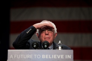 Bernie Sanders wants a good start - and then to enlarge on it. Photo / AP.