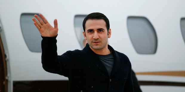 Amir Hekmati, released from an Iranian prison, is happy to finally be home in Michigan. Photo / AP
