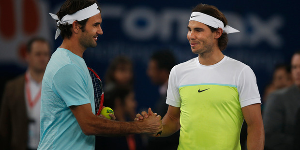 Roger Federer and Rafa Nadal have no special plans to end Djokovic's dominance. Photo / AP