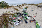 Locals are fed up with having to clean up beach rubbish.