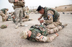 Kiwi troops based at Camp Taji in Iraq who are part of a mission to train Iraqi troops. Pool photo / Fairfax