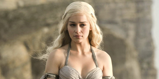 Emilia Clarke as Daenrys in the television series Game of Thrones.