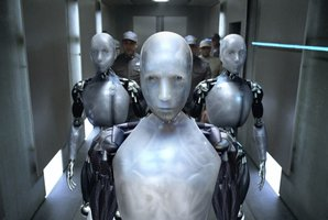 A scene from the movie I, Robot. Digitally Enhance Photo Supplied / Getty Images.