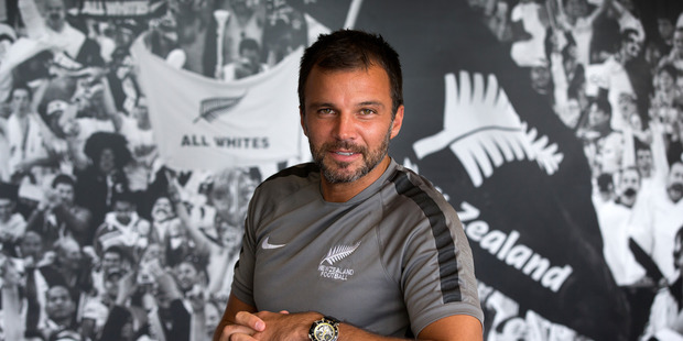 New Zealand Football All Whites coach Anthony Hudson. Photo / Brett Phibbs.