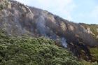 Mauao on fire. Photo/file