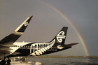 The global slump in oil prices may deliver a small pot of gold at end of rainbow for Air New Zealand. Photo / Supplied