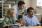 Rachel McAdams, Mark Ruffalo, Brian d'Arcy star in the movie Spotlight.