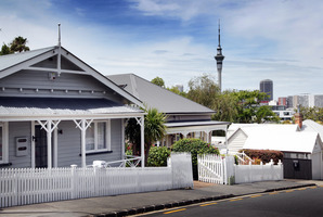 Median house prices in Auckland rose just 0.7pc in December, while sales volumes were down 11.5pc. Photo / Doug Sherring