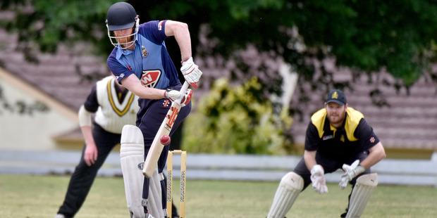 Te Puke batsman Tai Bridgeman Raison batting against Greerton earlier in the season.