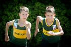 Katikati's 11-year-old twin runners Daniel (left) and Sean Nicholson.