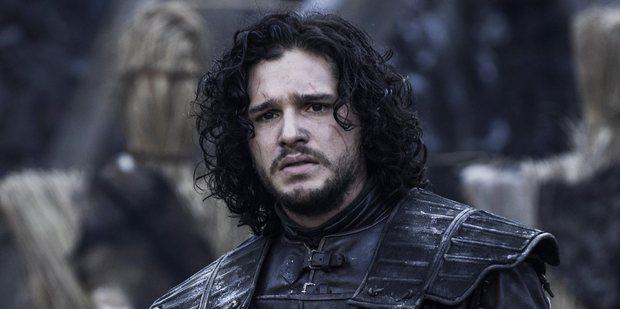 Loading Kit Harrington as Jon Snow in a scene from the TV show Game of Thrones.