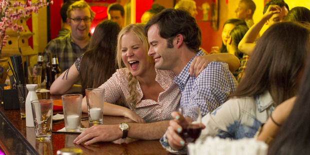 A scene from the movie Trainwreck starring Amy Schumer and Bill Hader.